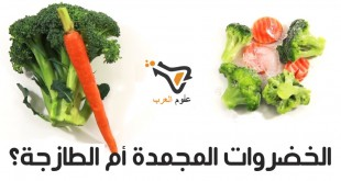 مقال – أيهما صحي أكثر : الخضروات المجمدة أم الطازجة؟